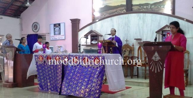 Sunday Liturgy held : Third Sunday of Lent - Moodbidri