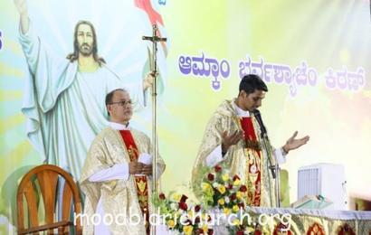 Easter celebratation at Corpus Christi Church, Moodbidri